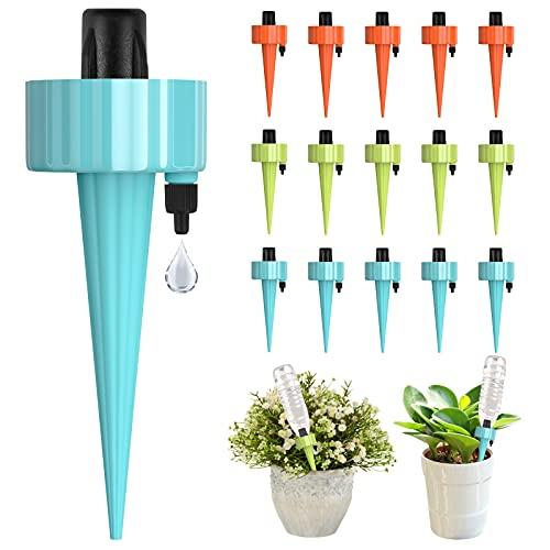 Bewässerungssystem, 15 Stück Automatisch Bewässerung Set, Pflanzen Bewässerungssystem mit Einstellbar, Pflanzen Blumen Bewässerung für Topfpflanzen Garten Zimmerpflanze Pflanzen Bewässerung Urlaub