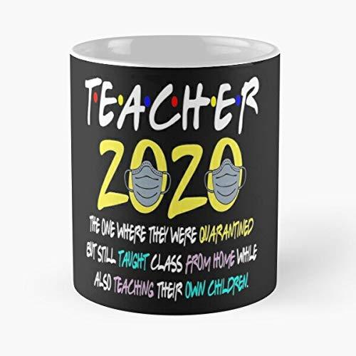 Teacher's Teaching Online School Coronavirus 2020 Classic Mug - Gift The Office 11 Ounces Funny White Coffee Mugs