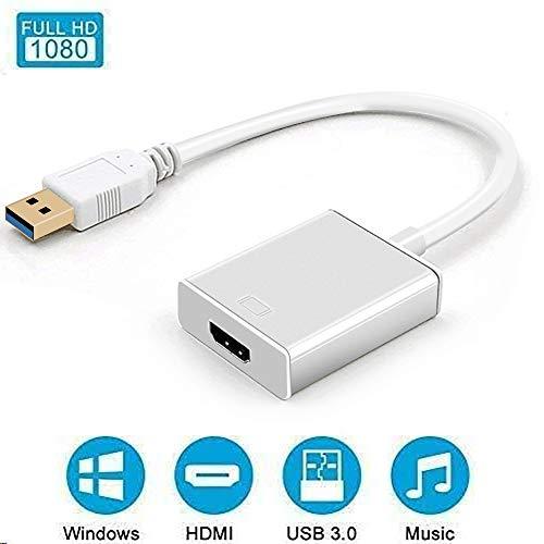 REUUY USB 3.0 zu HDMI Adapter, USB 3.0/2.0 zu HDMI 1080P Full HD (Stecker zu Buchse) Video Audio Multi Monitor Konverter…