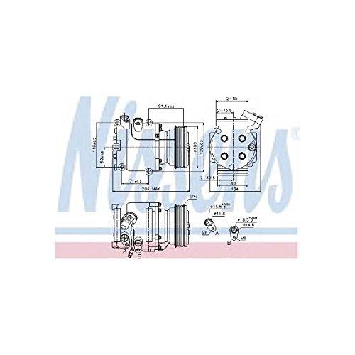 NISSENS 89233 Kompressor, Klimaanlage