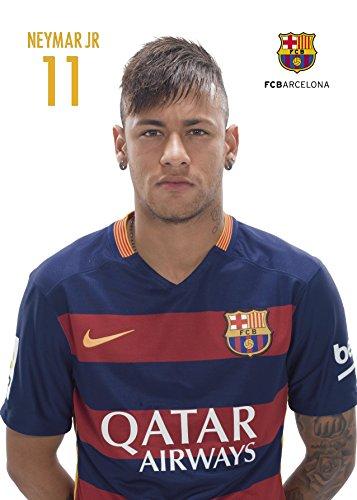 Grupo Erik Editores–Postkarte A4, 21.75X 31cm Fc Barcelona 2015/2016 Neymar 21.75 x 31 cm