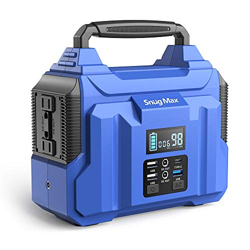 SNUGMAX Vickers 200 Portable Power Station with 222Wh Backup Lithium Battery, Solar Generator with 110V/200W Pure Sine Wave AC Outlet & Type-C Port for Indoor CPAP Outdoors Camping Travel Emergency
