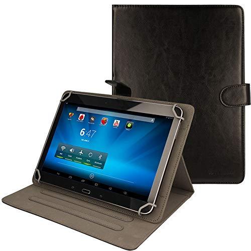 TECHGEAR® [Stellar (10) Étui Universel pour Tablettes Lenovo A10 10.1 Pouces - Housse de Protection avec Stand de Visualisation (Noir)
