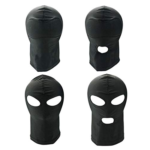 Adult Elastic Face Mask, Role Playing Mask for Party Games (Pack of 4)