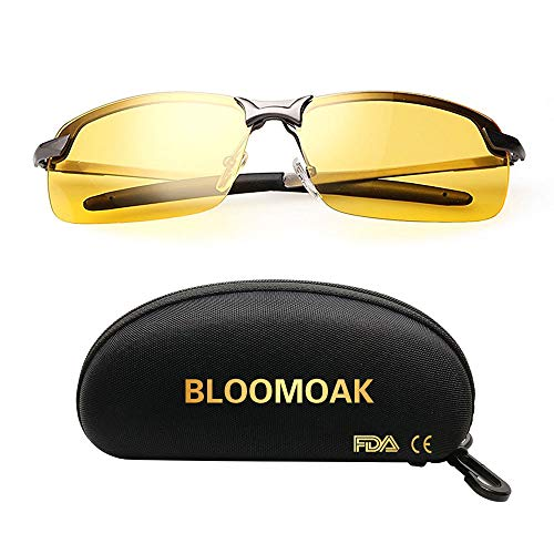 Night Driving Glasses/Polarized Sports Night Vision Glasses - Anti-glare | UV 400 Protection | Night Driving | Fishing | Outdoor Sport | Unisex...