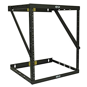 Tripp Lite 8U/12U/22U Expandable Wall-Mount 2-Post Open Frame Rack Adjustable Network Equipment Rack Switch Depth 18  Deep 5 Year Warranty  SRWO8U22  black 17.8  8U   24.8  12U  42.3  22U  x 20.11 x 18.24