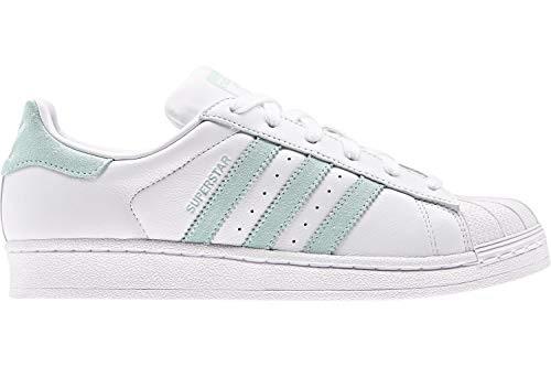Adidas Superstar W White Vapour Green Black 38