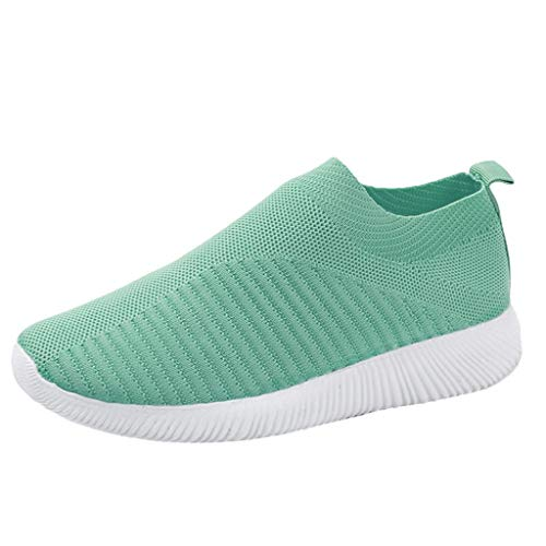 Womens Walking Shoes Sock Sneakers Daily Shoes Slip-on Lightweight Comfortable Breathable Mesh Outdoor Shoes Mint Green