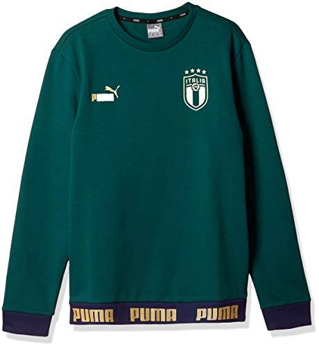 PUMA FIGC Ftbl Culture Crew Sweater, Felpa Uomo, Ponderosa Pine Team Gold, M