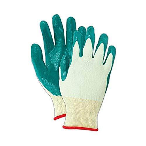 Showa mejor 4500–06Showa mejor guante nitric-flex Lite 4500con palmas recubiertas de nitrilo guantes, 10, verde 6(Pack de 12)