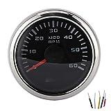 Contagiri Yctze 52 mm / 2 pollici 6000 giri/min, contagiri LCD contagiri per motori fuorib...