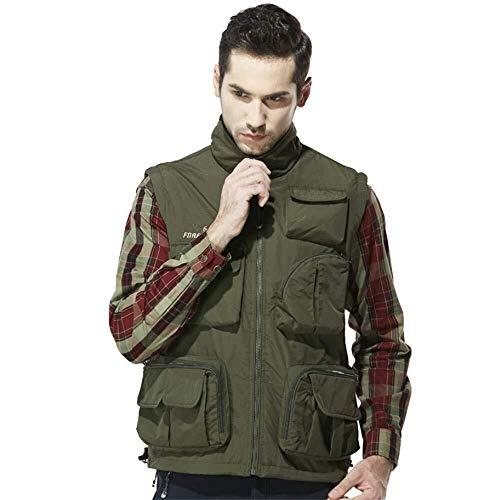 Hcxbb-7 Multi-Pocket, Vliegen Vissen Vest Suit Multi-Functie Casual Plus Fluweel Klimmen Net Outdoor Sport Vest Snel Drogen Waterdicht En Krasbestendig Gilet Jassen
