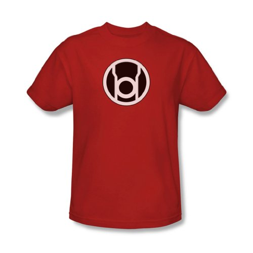 Green Lantern - Rote Laterne Symbol Adult T-Shirt in Rot, XXX-Large, Red