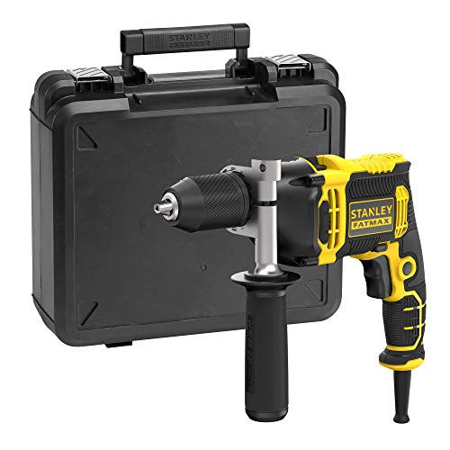 STANLEY FATMAX FMEH750K-QS - Taladro percutor con cable 750W, 54.400 ipm, incluye maletín