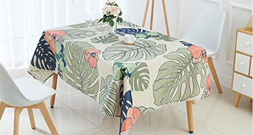 RTTGOR Tischdecke Tischdecke Tropische Bananenblattmuster Drucktischdecke Leinenmantel für Mesa Rechtecke en Tela Decke Tischdecke