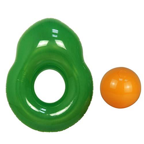 POHOVE Hamaca flotante para piscina, 141 x 115 x 45 cm, aguacate inflable, hamaca inflable, flotador de piscina inflable, para adultos y niños para divertirse mucho en verano