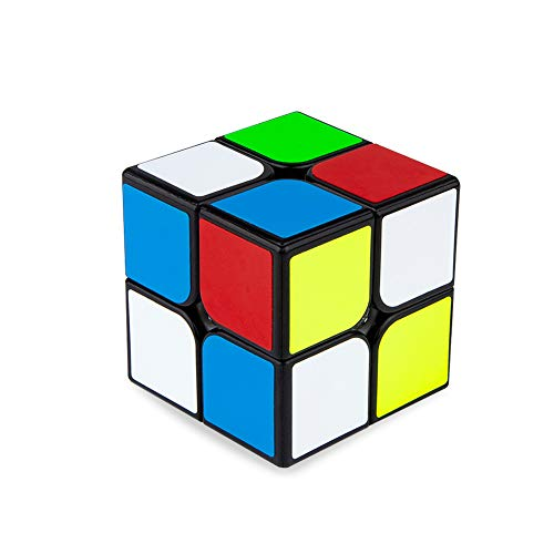 Buself Zauberwürfel 2x2 Speedcube, 2x2 Speed Cube Original Magic Cube Puzzle Spielwürfel(Schwarz)