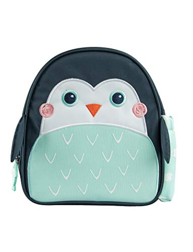 Planet Buddies Kids Lunch Box Bag Insulated Lunch Bag Backpack for School Cool Bag Lunch Boxes for Girls and Boys Childrens Backpacks with Water Bottle Holder and Name Tag Pepper The Penguin