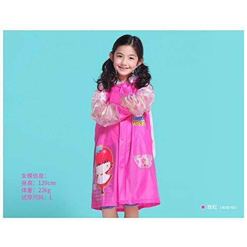 NHDYZ Regenmantel Cartoon Kinder Regenmantel Wasserdicht Kinder Regenbekleidung Winddicht Regen Poncho Für Kinder Cartoon Regenmantel, D, M
