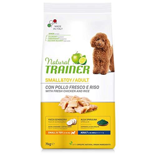Natural Trainer - Cibo per cani adulti di piccola e piccolissima taglia, Alimento Secco con Pollo fresco e Riso, 7 kg