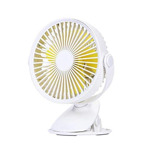 Zjysm Ventilador de clip portátil 360 grados Rotación USB Mini raya ventilador recargable refrigerador de aire escalofriante clip de escritorio Ventilador de escritorio Uso dual Uso portátil Place Por