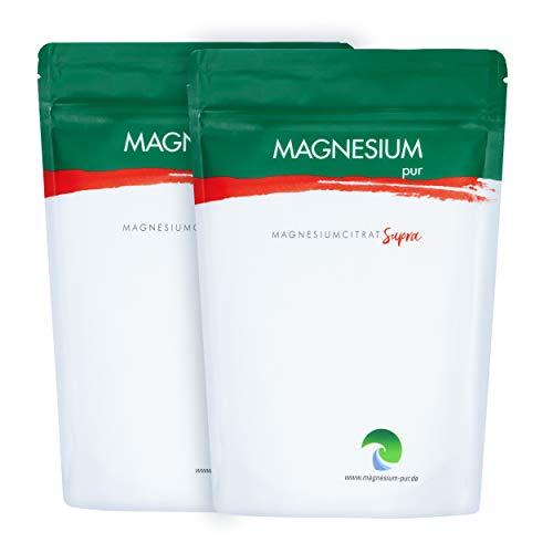 Magnesium Pur - Supra Granulat Trimagnesiumdicitrat, 2 x 500g