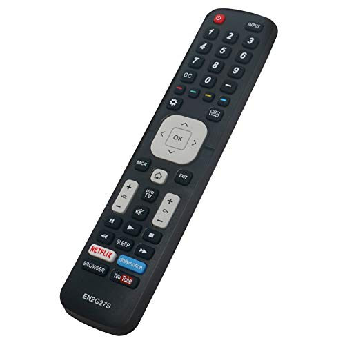 EN2G27S Replace Remote Control fit for Sharp Smart LCD LED TV Aquos LC-40N5000 LC-40N5000U LN-75N8000 Q5000 Series with Netflix YouTube Button LC-43N5000 LC-43N610 LC-50N5000 LC-55N620CU LC-55N7000
