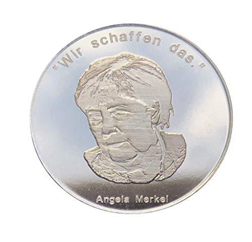 Schwarzenberger Altstadtthaler, Silber 1/2 Oz Münze, Angela Merkel, Wir schaffen das, Geschenk