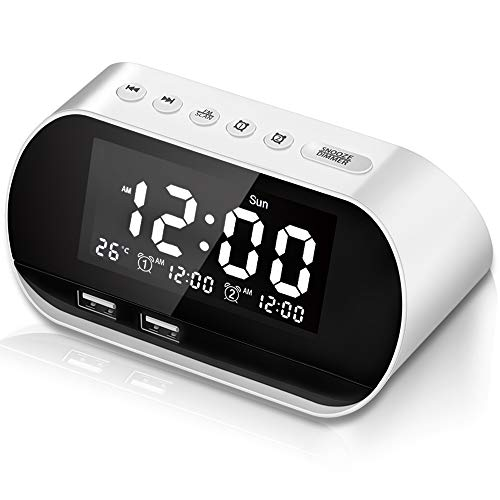 Acocho Reloj Despertador,Digital Alarma Despertador,FM Radio Reloj Digital,Despertador Digital con...