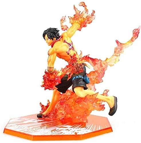 Regalos de Anime One Piece Figuras Portgas.D.Ace Figura de acción Escena de Habilidad Anime Regalos Juguetes Modelo Kits de 6.29 Pulgadas