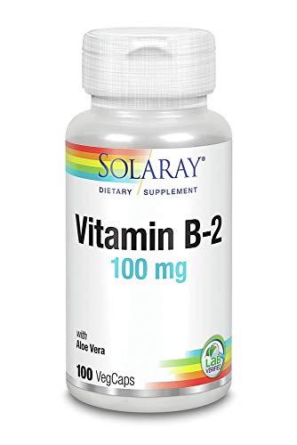 Vitamin B-2 100mg Solaray 100 Caps