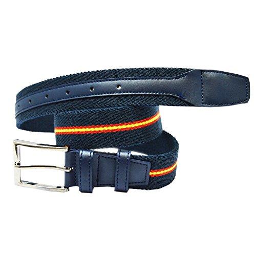 ALBERO Cinturón COPS azul, piel, elástico, Blue Line