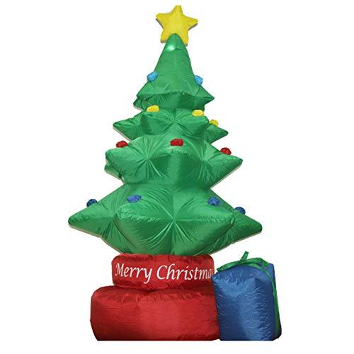 BXWQPP Árbol de Navidad Giratorio con LED Inflable de Navidad 210cm Alta para la Decoración del Jardín Casero Navidad Fiesta Césped Bar Interior Exterior Decoracion Prop