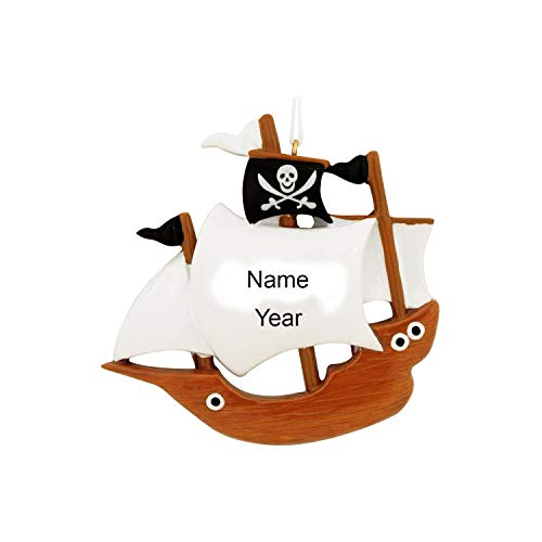 Ornaments Pirate Ship Personalized Christmas Tree