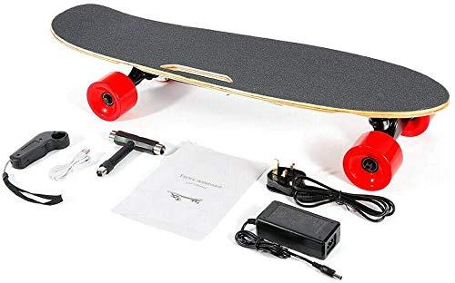 DIFU Elektrisches Skateboard, 350W Elektro Skateboard Longboard E-Board Komplettboard Ahorndeck Fernbedienung wRemote 20km/h