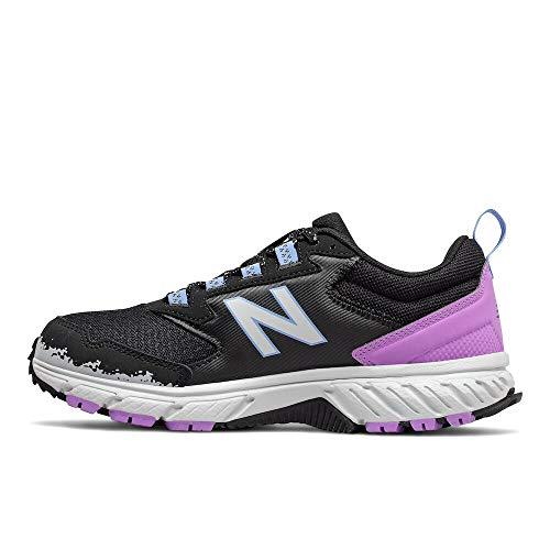 New Balance Women's 510 V5 Trail Running Shoe, Black/Light Aluminum/Neo Violet, 10 W US