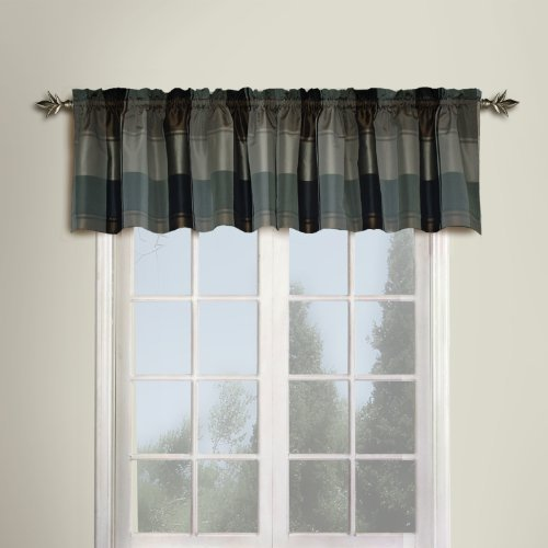 United Curtain Plaid Straight Valance, 54 by 18-Inch, Taupe/Brown by United Curtain