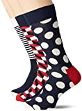 Happy Socks Stripe Gift Box Chaussettes, Bleu (Navy 6000), Unique (Taille Fabricant: 41-46) (Lot de 4) Homme