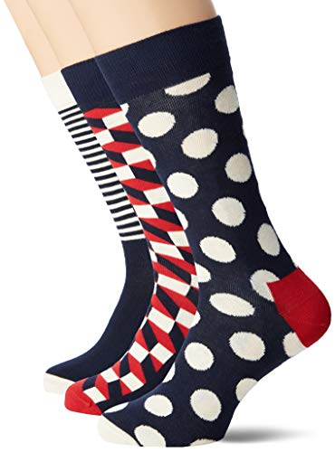 Happy Socks, bunt premium baumwolle Geschenkkarton 4 Paar Socken für Männer & Frauen, Mix Geschenkbox (41-46)