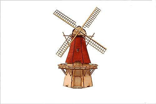 Desktop Wooden Model Kit Dutch windmill 2 by Young Modeler