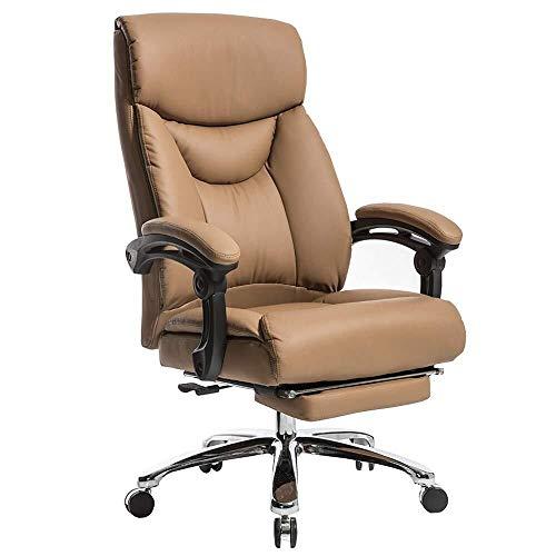 XKKD Stoelleuning, extra gewatteerde bureaustoel met hoge rugleuning, grote zit- en kantelfunctie, ultiem comfortdesign, met voetsteungewicht 150 kg
