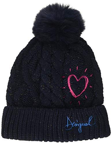 Desigual Hat Heart Sombrero, Azul (Navy 5000), L para Niñas