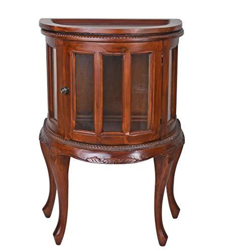 Barschrank halbrund Mahagoniholz Vitrinenschrank Hausbar Weinschrank Vitrine lup015 Palazzo Exklusiv