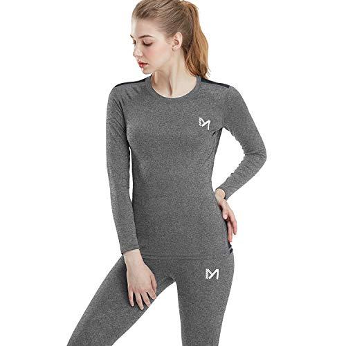 MEETYOO Conjuntos térmicos Mujer, Ropa Interior termica Invierno Base Layer Thermo Pantalones...