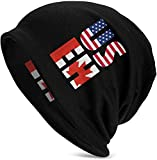 US EH America and Canada Flag Canadian Womens Winter Hats Soft Cute Beanie Hat for Women