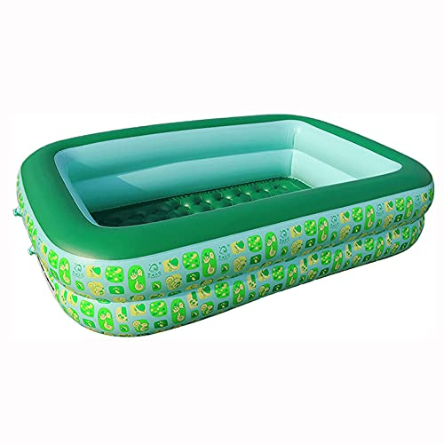 XBSXP Piscina Inflable para Niños Segura Y Respetuosa con El Medio Ambiente Antidesgaste Y Duradera Puntos Aleatorios Verdes Y Azules,215 * 155 * 60cm