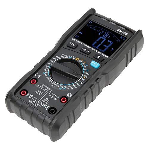 Multímetro digital de corriente de voltaje, práctico multímetro probador de CA/CC, para capacitancia de resistencia de voltaje de uso general