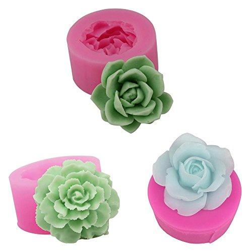 Moules de savon 3D Plante Succulente Fleur Pot Silicone Moule Gypse Ciment Charnue Fleur Bonsaï DIY Cendrier Bougie Titulaire Moule à savon en silicone