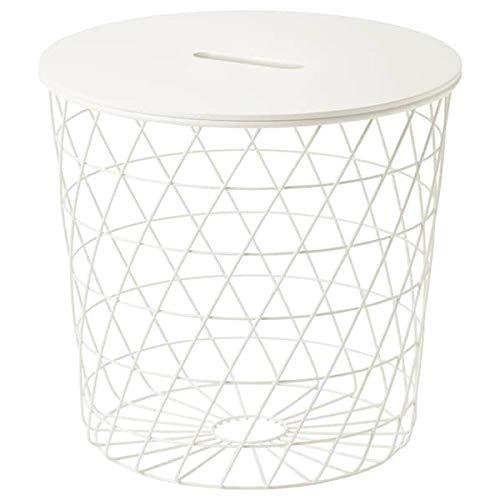 BestOnlineDeals01 KVISTBRO Mesa de almacenamiento, color blanco, 44 cm duradero y fácil de cuidar. Mesas auxiliares y mesas auxiliares. Mesas y escritorios. Muebles respetuosos con el medio ambiente.