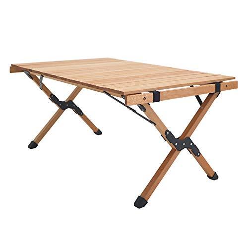 ZXLIFE Klappbarer Camping-Tisch Buche Tragbarer Picknicktisch im Freien mit Tragetasche Niedriger Picknicktisch Perfekt für Camping mit Autos Geeignet für 4-6 Personen